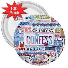 Book Collage Based On Confess 3  Buttons (100 Pack)