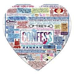 Book Collage Based On Confess Jigsaw Puzzle (heart)