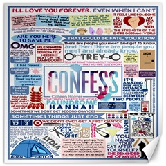 Book Collage Based On Confess Canvas 12  X 12