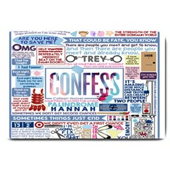 Book Collage Based On Confess Large Doormat