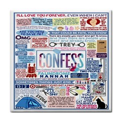 Book Collage Based On Confess Face Towel