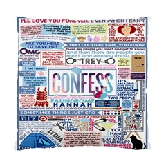 Book Collage Based On Confess Standard Cushion Case (one Side)