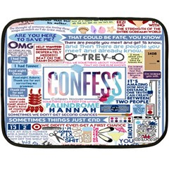 Book Collage Based On Confess Double Sided Fleece Blanket (mini)
