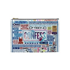 Book Collage Based On Confess Cosmetic Bag (medium)