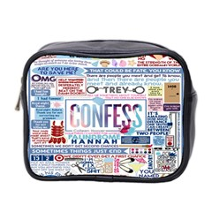 Book Collage Based On Confess Mini Toiletries Bag 2 Side