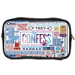 Book Collage Based On Confess Toiletries Bags