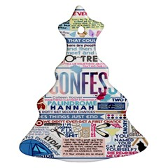 Book Collage Based On Confess Ornament (christmas Tree)