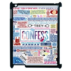 Book Collage Based On Confess Apple Ipad 2 Case (black)