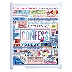 Book Collage Based On Confess Apple Ipad 2 Case (white)