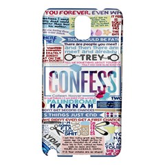 Book Collage Based On Confess Samsung Galaxy Note 3 N9005 Hardshell Case