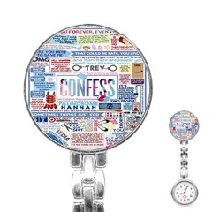 Book Collage Based On Confess Stainless Steel Nurses Watch