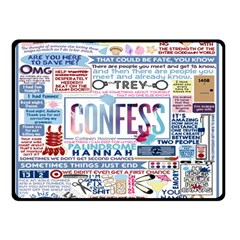 Book Collage Based On Confess Double Sided Fleece Blanket (small)