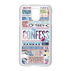 Book Collage Based On Confess Samsung Galaxy S5 Case (white)