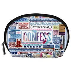 Book Collage Based On Confess Accessory Pouches (large)