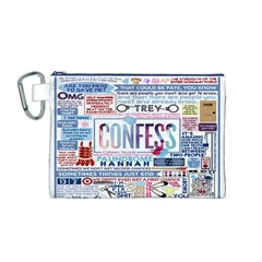 Book Collage Based On Confess Canvas Cosmetic Bag (m)
