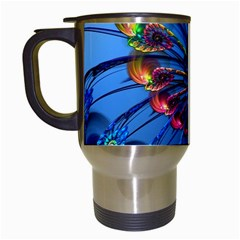Top Peacock Feathers Travel Mugs (white)