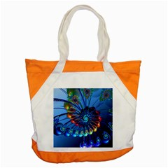 Top Peacock Feathers Accent Tote Bag