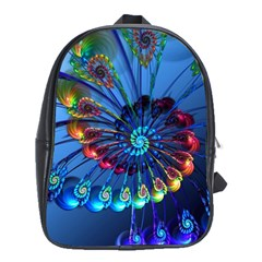 Top Peacock Feathers School Bags(large)