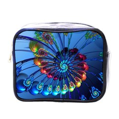 Top Peacock Feathers Mini Toiletries Bags