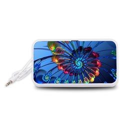 Top Peacock Feathers Portable Speaker (white)