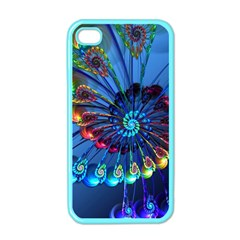 Top Peacock Feathers Apple Iphone 4 Case (color)