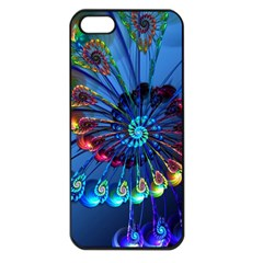 Top Peacock Feathers Apple Iphone 5 Seamless Case (black)