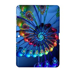 Top Peacock Feathers Samsung Galaxy Tab 2 (10 1 ) P5100 Hardshell Case