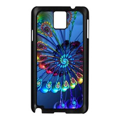 Top Peacock Feathers Samsung Galaxy Note 3 N9005 Case (black)