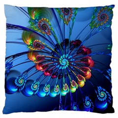 Top Peacock Feathers Standard Flano Cushion Case (two Sides)
