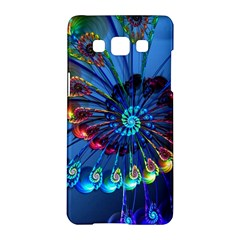 Top Peacock Feathers Samsung Galaxy A5 Hardshell Case