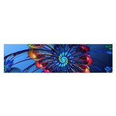 Top Peacock Feathers Satin Scarf (oblong)