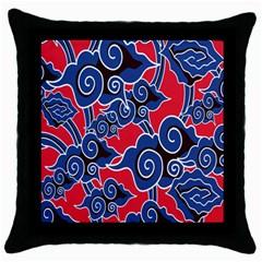 Batik Background Vector Throw Pillow Case (black)