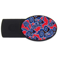 Batik Background Vector Usb Flash Drive Oval (2 Gb)