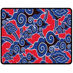 Batik Background Vector Double Sided Fleece Blanket (medium)