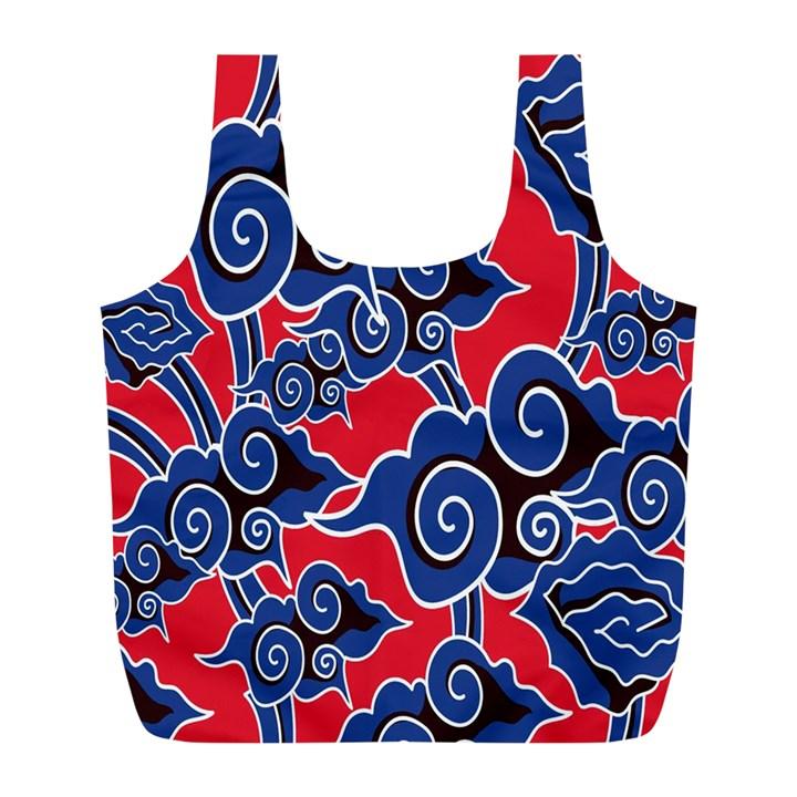 Batik Background Vector Full Print Recycle Bags (L)
