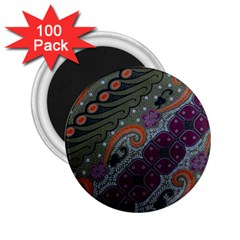 Batik Art Pattern  2 25  Magnets (100 Pack)