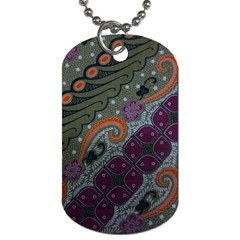 Batik Art Pattern  Dog Tag (one Side)