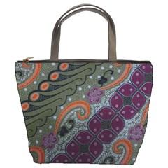 Batik Art Pattern  Bucket Bags