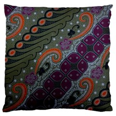 Batik Art Pattern  Large Cushion Case (one Side)