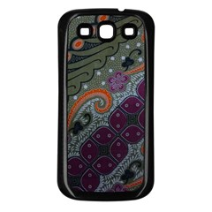 Batik Art Pattern  Samsung Galaxy S3 Back Case (black)