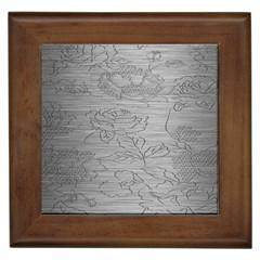 Embossed Rose Pattern Framed Tiles