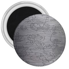 Embossed Rose Pattern 3  Magnets