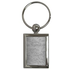 Embossed Rose Pattern Key Chains (rectangle)