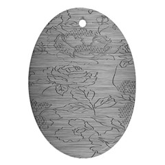 Embossed Rose Pattern Oval Ornament (two Sides)