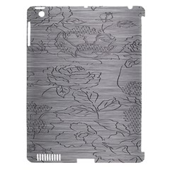 Embossed Rose Pattern Apple Ipad 3/4 Hardshell Case (compatible With Smart Cover)