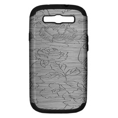 Embossed Rose Pattern Samsung Galaxy S Iii Hardshell Case (pc+silicone)