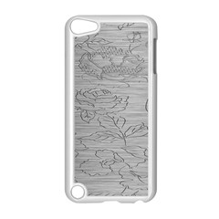 Embossed Rose Pattern Apple Ipod Touch 5 Case (white)