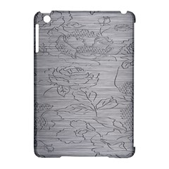 Embossed Rose Pattern Apple Ipad Mini Hardshell Case (compatible With Smart Cover)