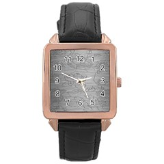 Embossed Rose Pattern Rose Gold Leather Watch
