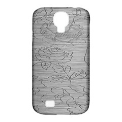 Embossed Rose Pattern Samsung Galaxy S4 Classic Hardshell Case (pc+silicone)